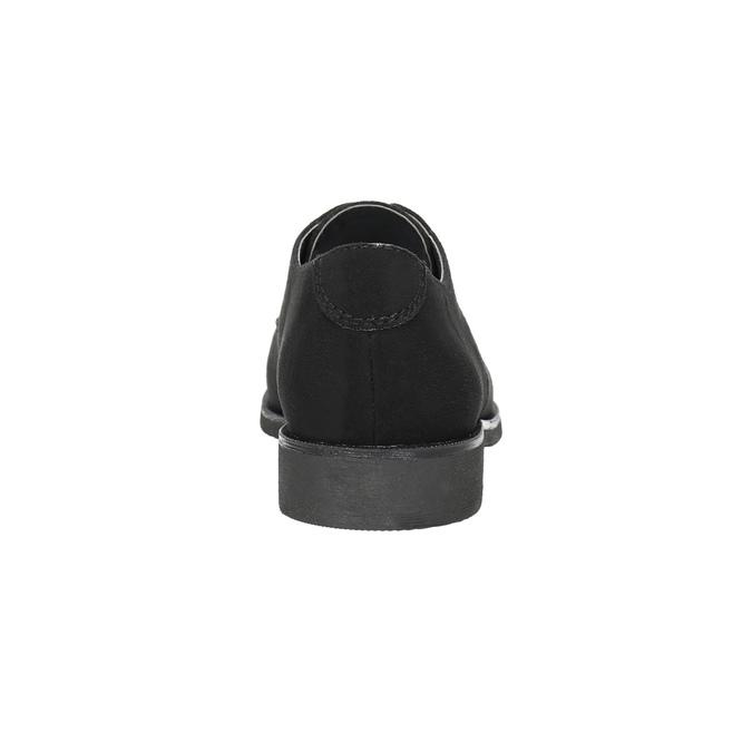 Ladies' shoes with stitching bata, black , 529-6632 - 17