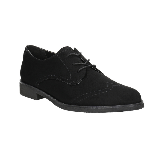 Ladies' shoes with stitching bata, black , 529-6632 - 13