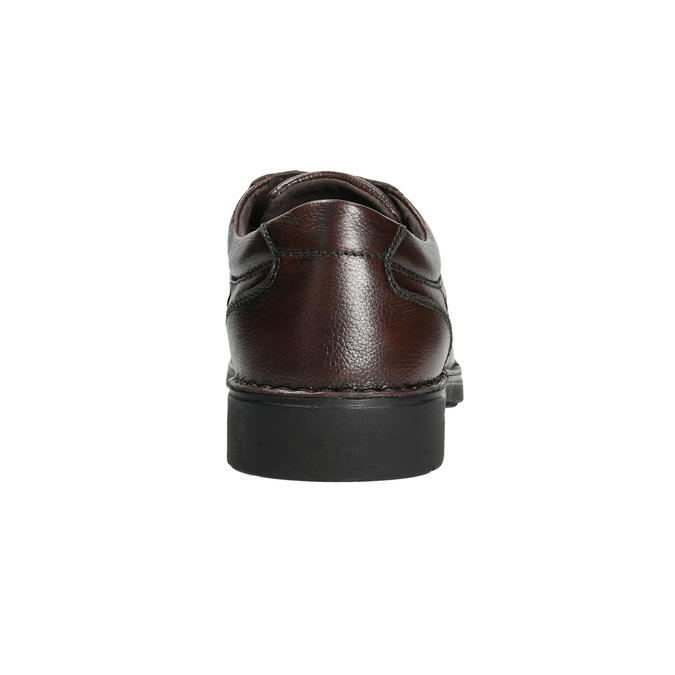 Men's casual shoes with stitching comfit, brown , 824-4987 - 17
