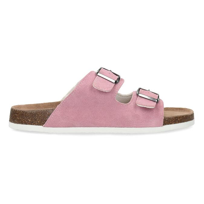 Ladies' leather sandals de-fonseca, pink , 573-5621 - 19