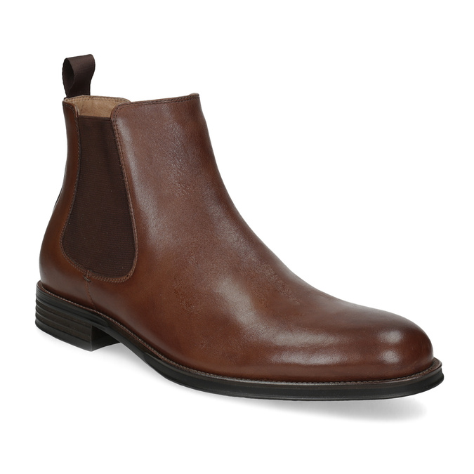 Brown leather Chelsea Boots bata, brown , 896-3400 - 13