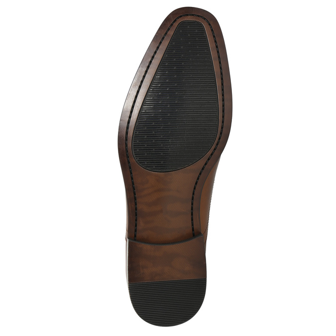 Leather Oxford shoes with decoration bata, brown , 826-3690 - 19