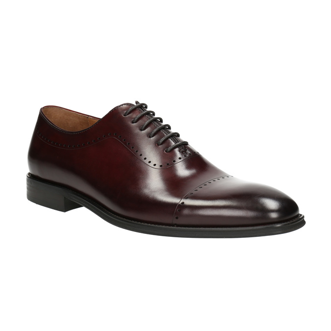 Men's leather Oxford shoes bata, red , 826-5683 - 13