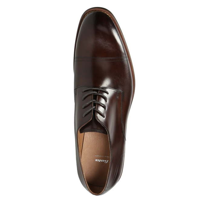Men's brown leather shoes bata, brown , 826-4681 - 26