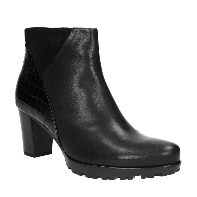 Ladies' Leather High-Heeled High Boots gabor, black , 716-6029 - 13