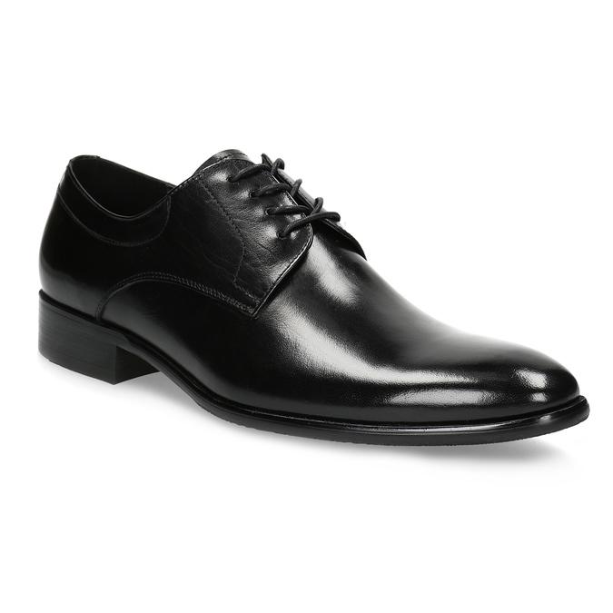 Men's leather Derby shoes bata, black , 824-6233 - 13