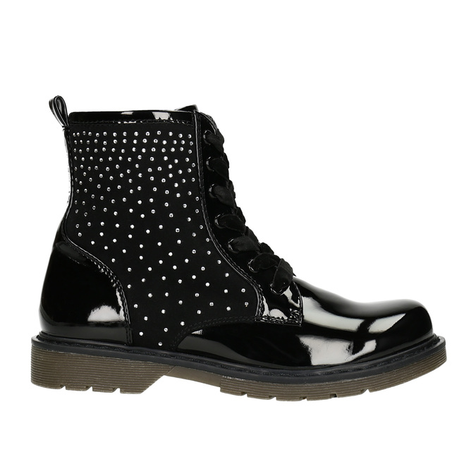 Children's Ankle Boots with Rhinestones mini-b, black , 321-6611 - 15