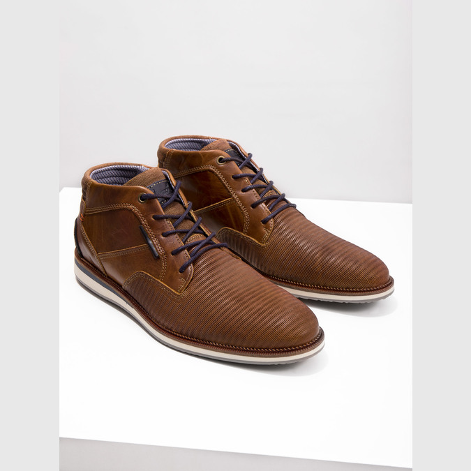 Casual leather ankle boots bata, brown , 826-3912 - 14