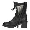 Black Leather Ankle Boots bata, black , 696-6646 - 15