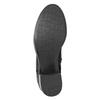 Black Leather Ankle Boots bata, black , 696-6646 - 17