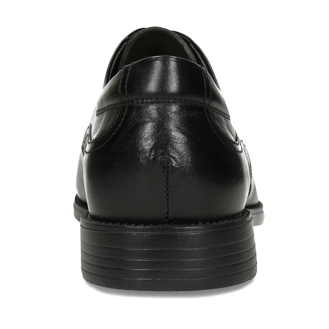 Men's Leather Derby Shoes fluchos, black , 824-6440 - 15