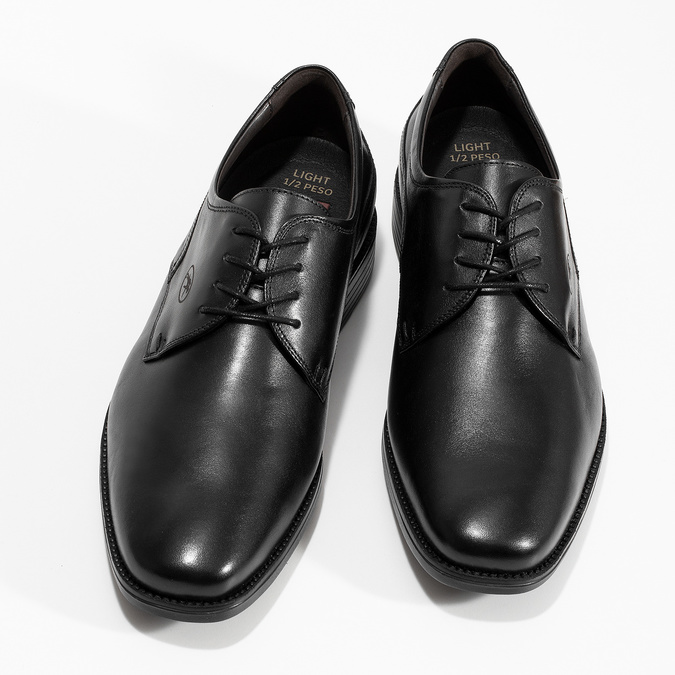 Men's Leather Derby Shoes fluchos, black , 824-6440 - 16