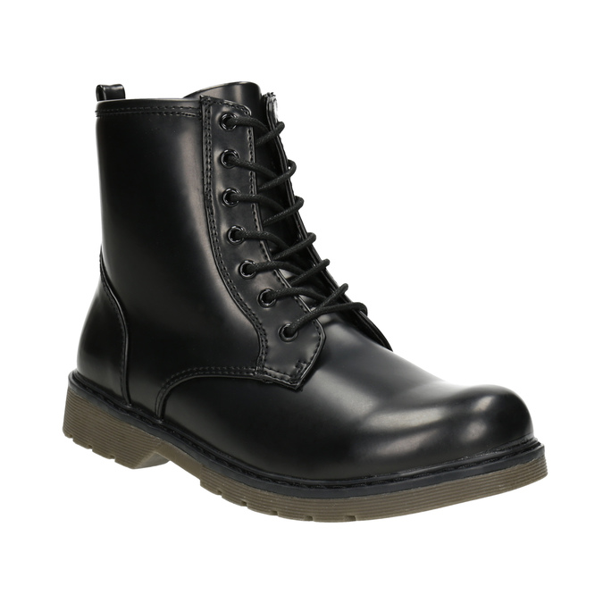 Children's Lace-Up Boots mini-b, black , 391-6407 - 13