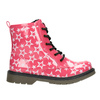 Girls' Lace-Up Boots with Stars mini-b, pink , 291-5167 - 26