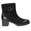 Leather ankle boots with a buckle bata, black , 696-6621 - 15