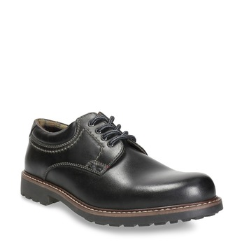 Men's leather shoes bata, black , 826-6619 - 13