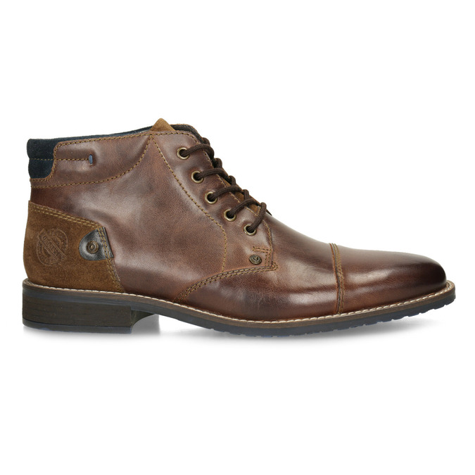 Men's leather ankle boots bata, brown , 826-3611 - 19