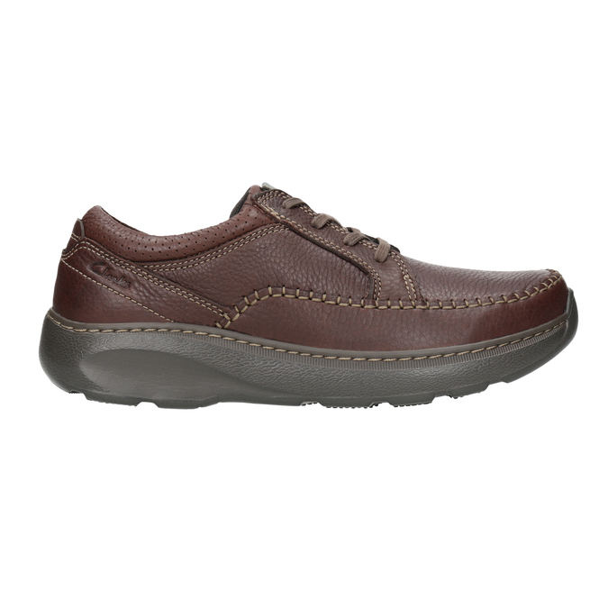 Leather Lace-Ups with Stitching clarks, brown , 826-4024 - 26