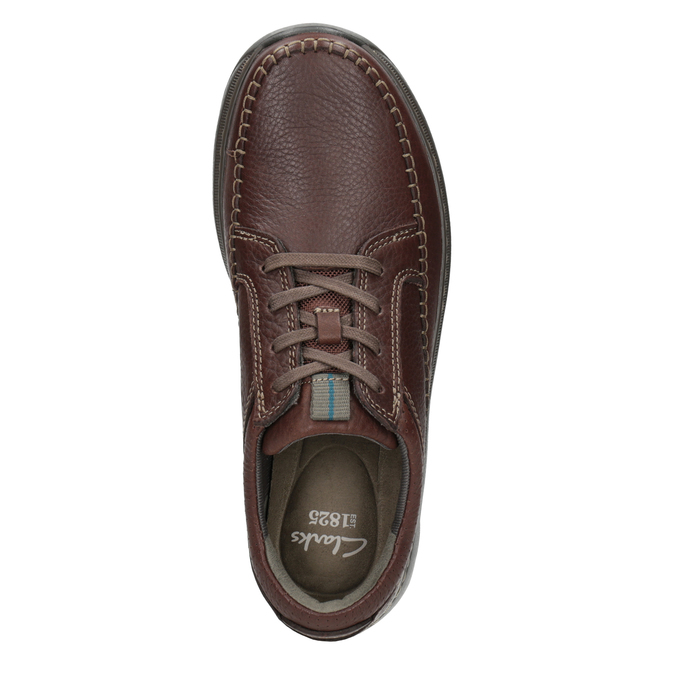 Leather Lace-Ups with Stitching clarks, brown , 826-4024 - 15