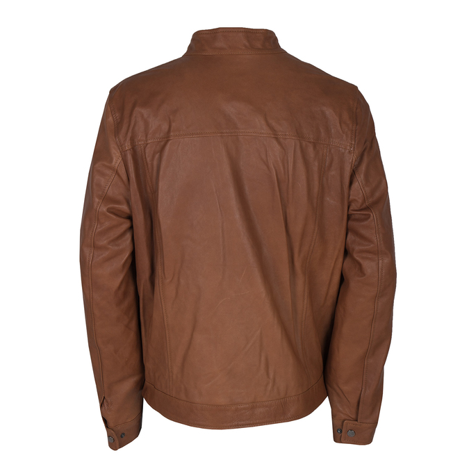 Men's Leather Jacket bata, brown , 974-0154 - 26