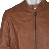 Men's Leather Jacket bata, brown , 974-0154 - 16
