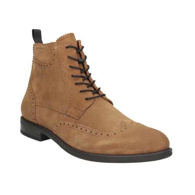 Men's Leather Ankle Boots vagabond, brown , 823-3016 - 13