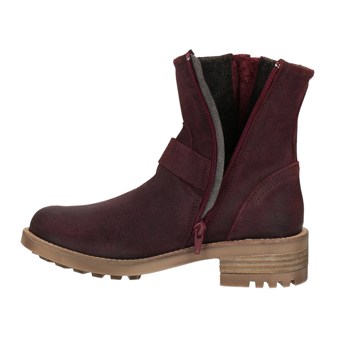 Girls' Leather High Boots bullboxer, red , 493-5014 - 15