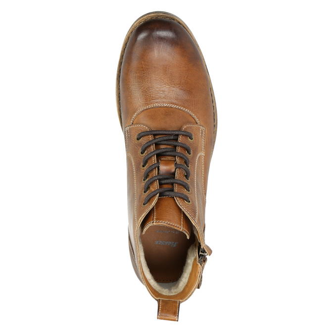 Brown Leather Ankle Boots bata, brown , 896-3684 - 26