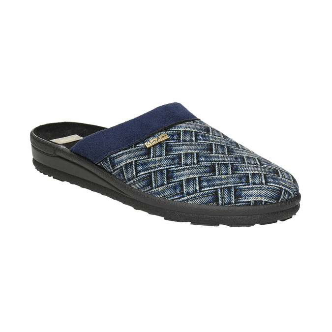 Men's Slippers bata, blue , 879-9611 - 13