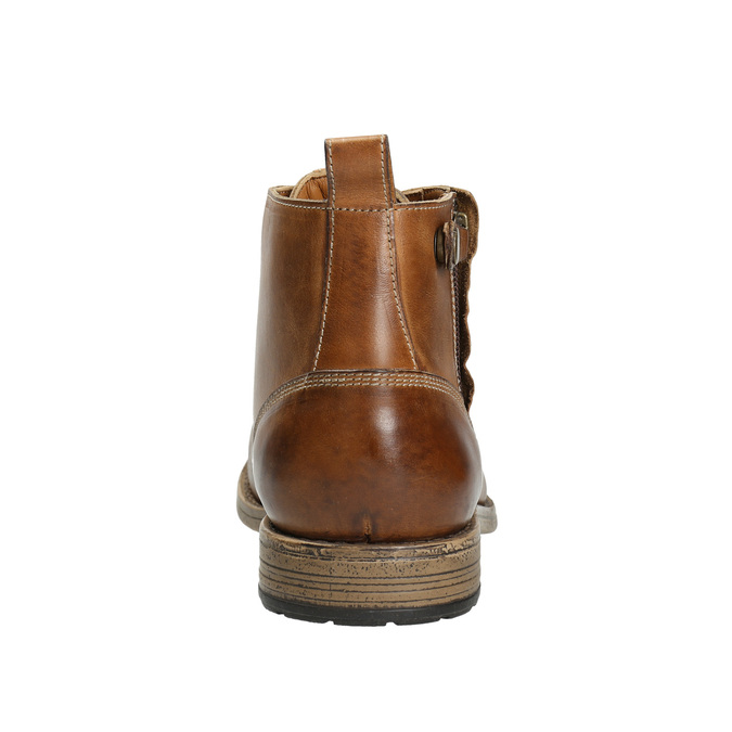 Brown Leather Ankle Boots bata, brown , 896-3684 - 17