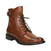 Ladies' leather high boots bata, brown , 596-4680 - 13