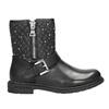 Girls' Zipper High Boots mini-b, black , 291-6396 - 26
