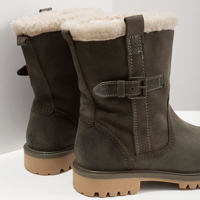 Ladies' winter boots with fur weinbrenner, khaki, 594-2455 - 18