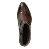 Ladies' leather high ankle boots bata, brown , 696-4653 - 15