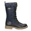 Girls' Winter Boots with Knit Jumper mini-b, blue , 391-9657 - 15