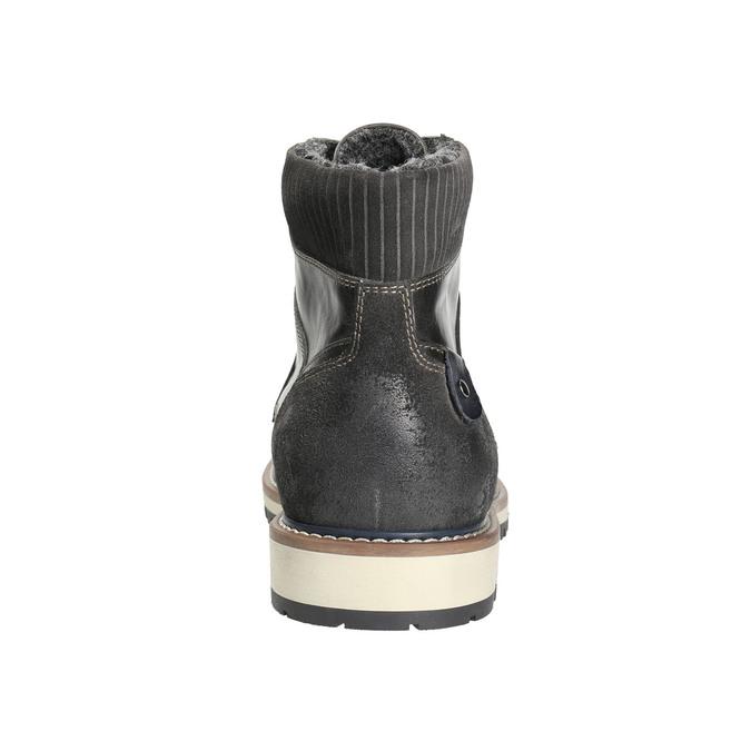 Men's Winter Ankle Boots bata, gray , 896-2657 - 17