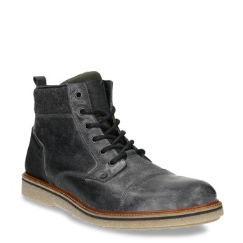 Men's Leather Ankle Boots bata, gray , 896-2669 - 13