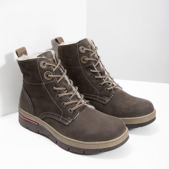 Ladies' Leather Winter Boots weinbrenner, brown , 596-4666 - 18