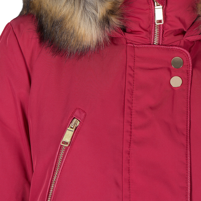 Ladies' Red Hooded Jacket bata, red , 979-5177 - 16