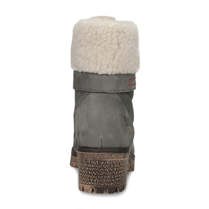 Ladies´ Cossacks with fur weinbrenner, gray , 696-2168 - 15