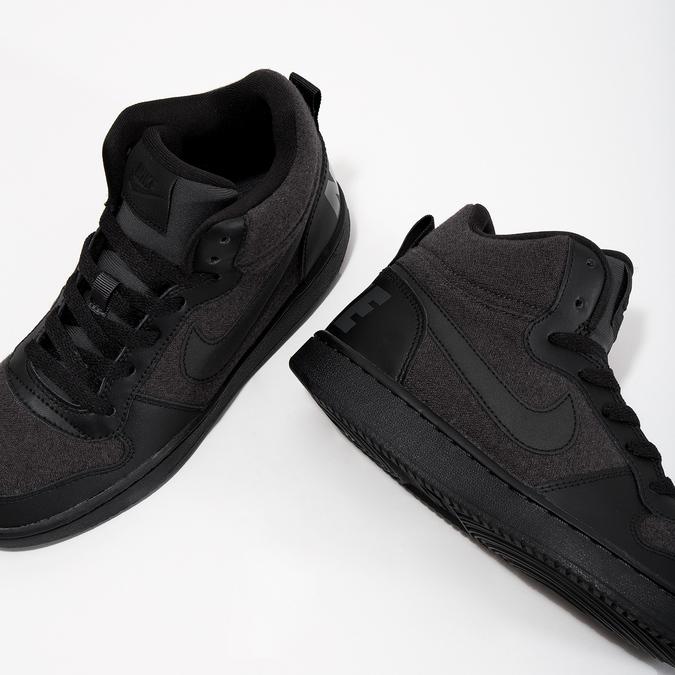 Children's High-Top Sneakers nike, gray , 401-2405 - 18