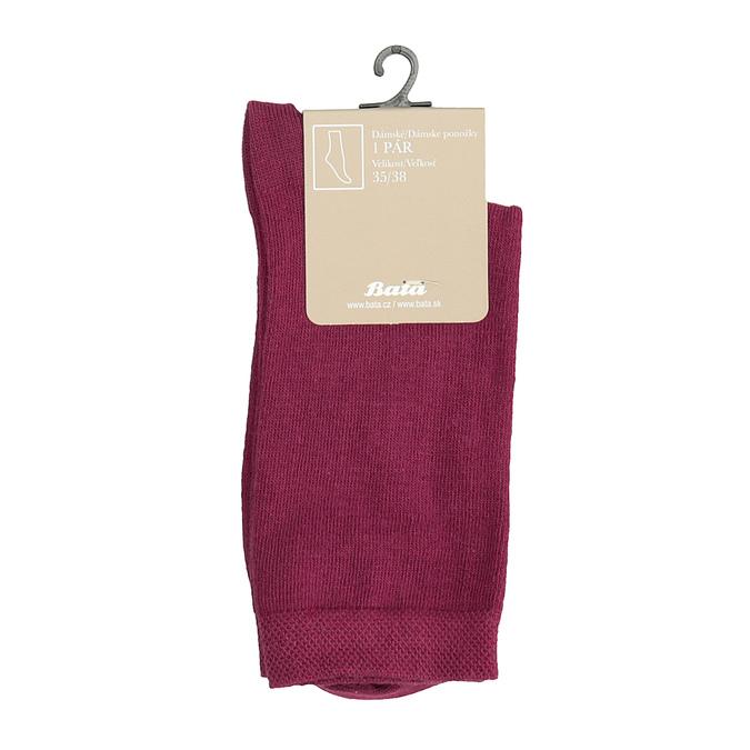 Ladies' Burgundy Socks bata, red , 919-5303 - 13