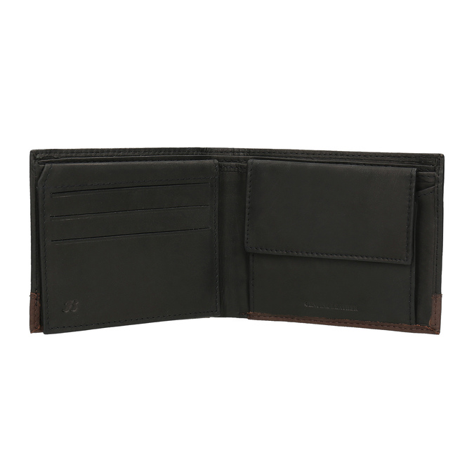 Men's leather wallet bata, black , 944-6149 - 15