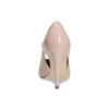 Pinkish cream-colored pumps with cut-outs insolia, beige , 721-8614 - 15