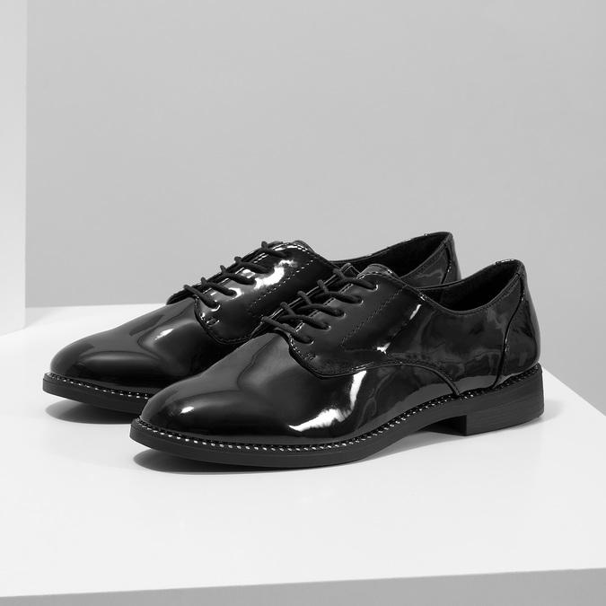 Ladies' patent shoes bata, black , 521-6608 - 16