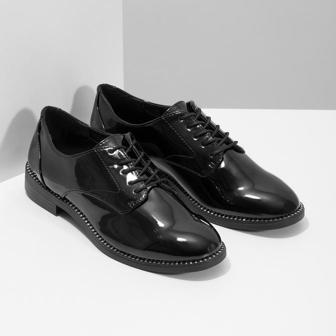 Ladies' patent shoes bata, black , 521-6608 - 26