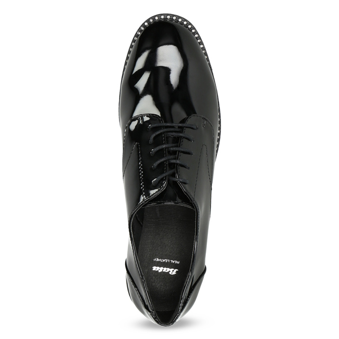 Ladies' patent shoes bata, black , 521-6608 - 17