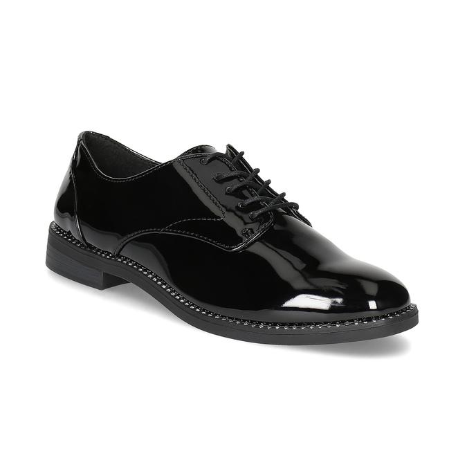 Ladies' patent shoes bata, black , 521-6608 - 13