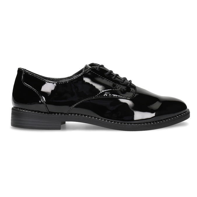 Ladies' patent shoes bata, black , 521-6608 - 19