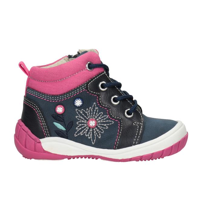 Ankle boots with a distinctive sole bubblegummer, blue , 121-9619 - 26